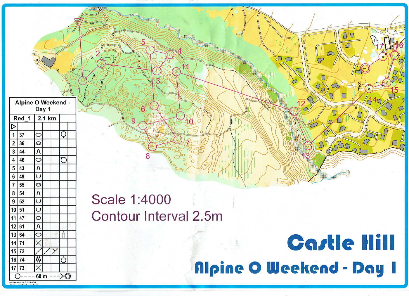 Alpine O Weekend 2016 Sprint (22/10/2016)