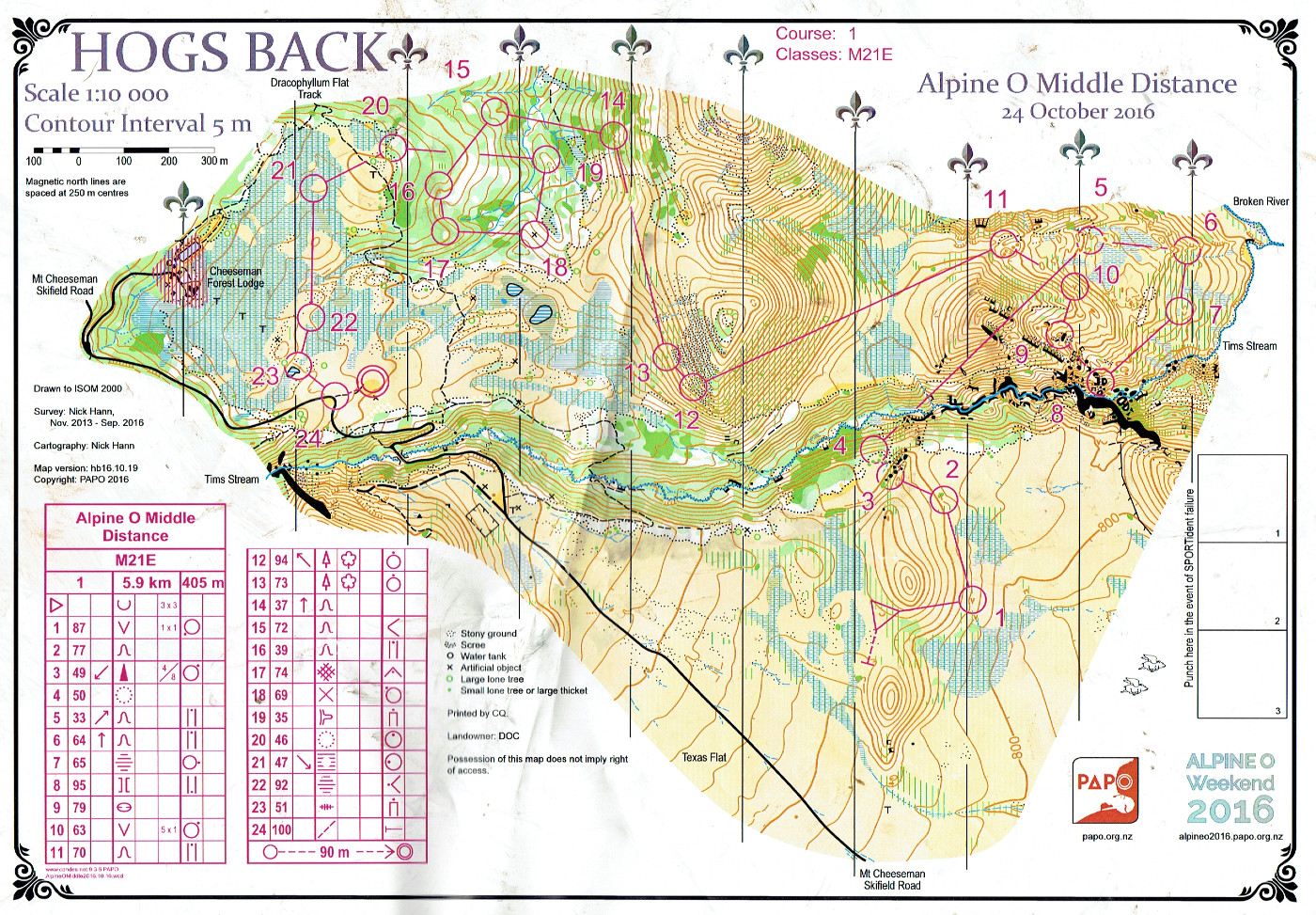 Alpine O Weekend 2016 Middle (24/10/2016)